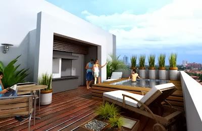 Decorar um terraço