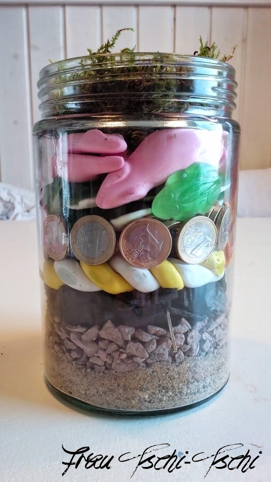 Frau Tschi Tschi Geldgeschenk Geschenk Im Glas