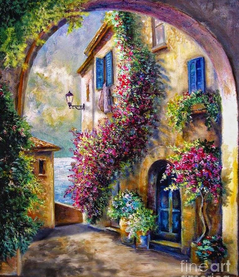 Cuadros modernos pinturas y dibujos fachadas y puertas - Pinturas para fachadas de casas ...