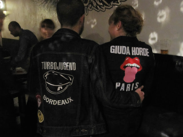Giuda Horde jacket stencil let's do it again racey roller glam rock punk wild tiger woman  i m a giuda fan giuda we love you