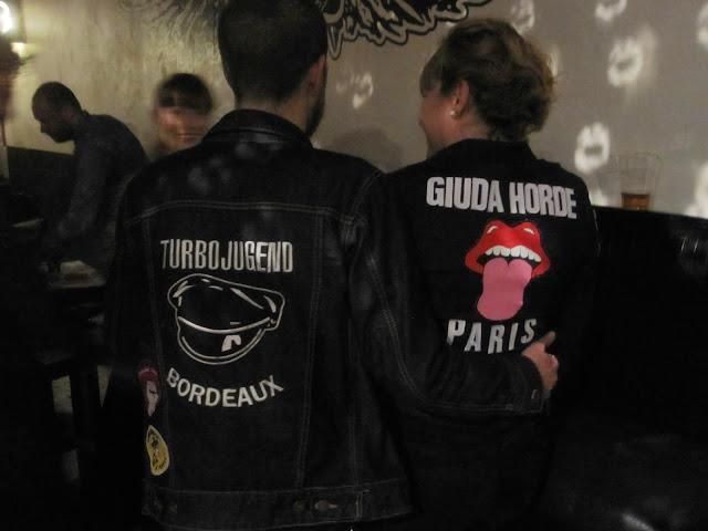 Giuda Horde jacket stencil let's do it again racey roller glam rock punk wild tiger woman  i m a giuda fan giuda we love you