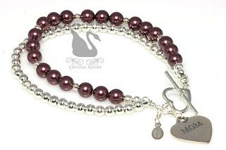 Most Pinned! Tiffany's Sterling Pearl Mom Charm Bracelet (B189-M)