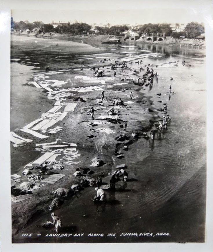 Laundry Day Along the Yamuna River - Agra 1932