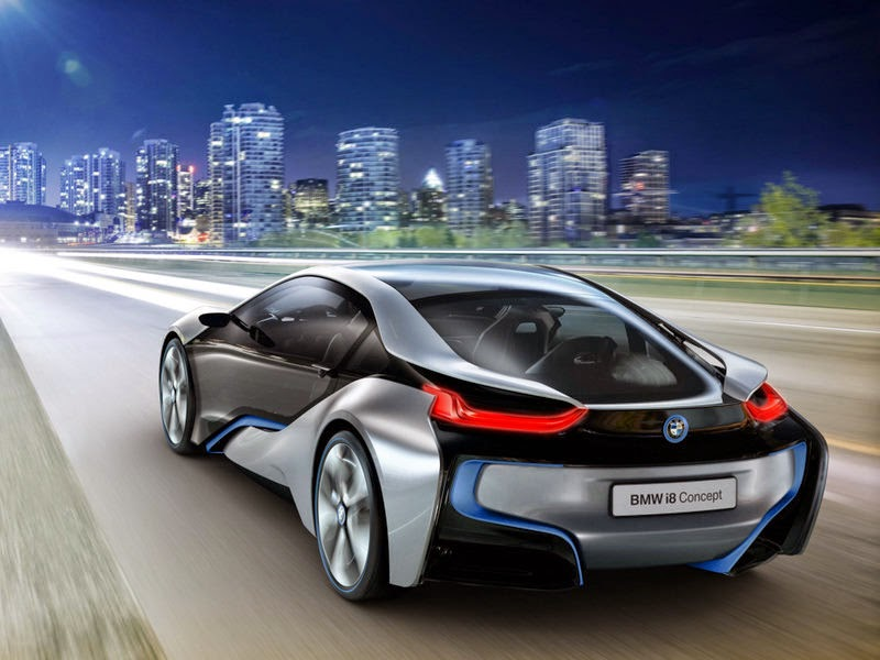 BMW i8 Cars 3D free nice Wallpaper