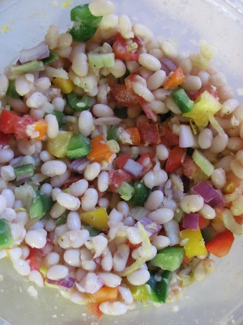 """... est beautiful! New colourful """"Warm White Bean Salad"""" à-la-moi"""