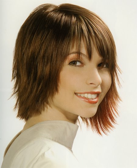 short hairstyles with bangs easy