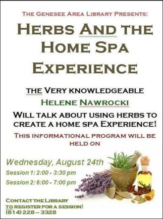 8-24 Herbs & The Home Spa