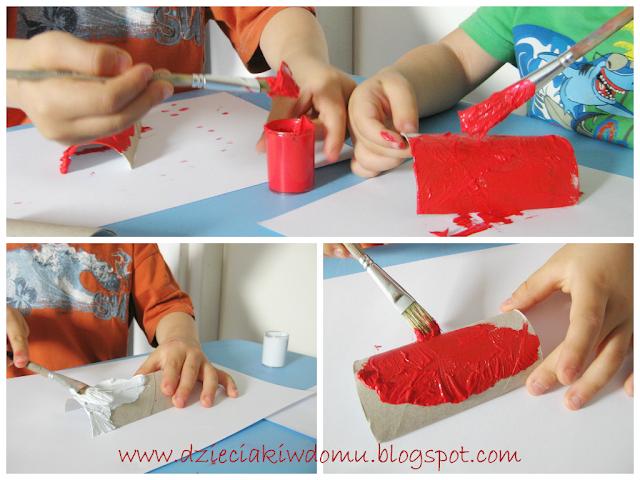 flaga polski praca plastyczna dla dzieci