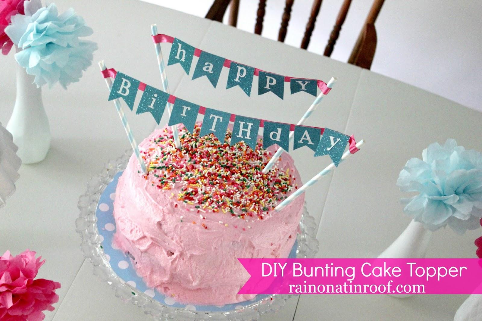 DIY Cake Bunting Topper