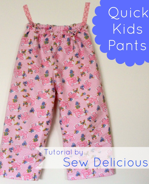 Quick Easy Kids Pants Tutorial Sew Delicious