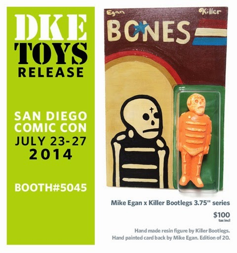 San Diego Comic-Con2014 Exclusive Mike Egan x Killer Bootlegs Bones Resin Figures - Orange Bones with G.I. Joe Blister Card