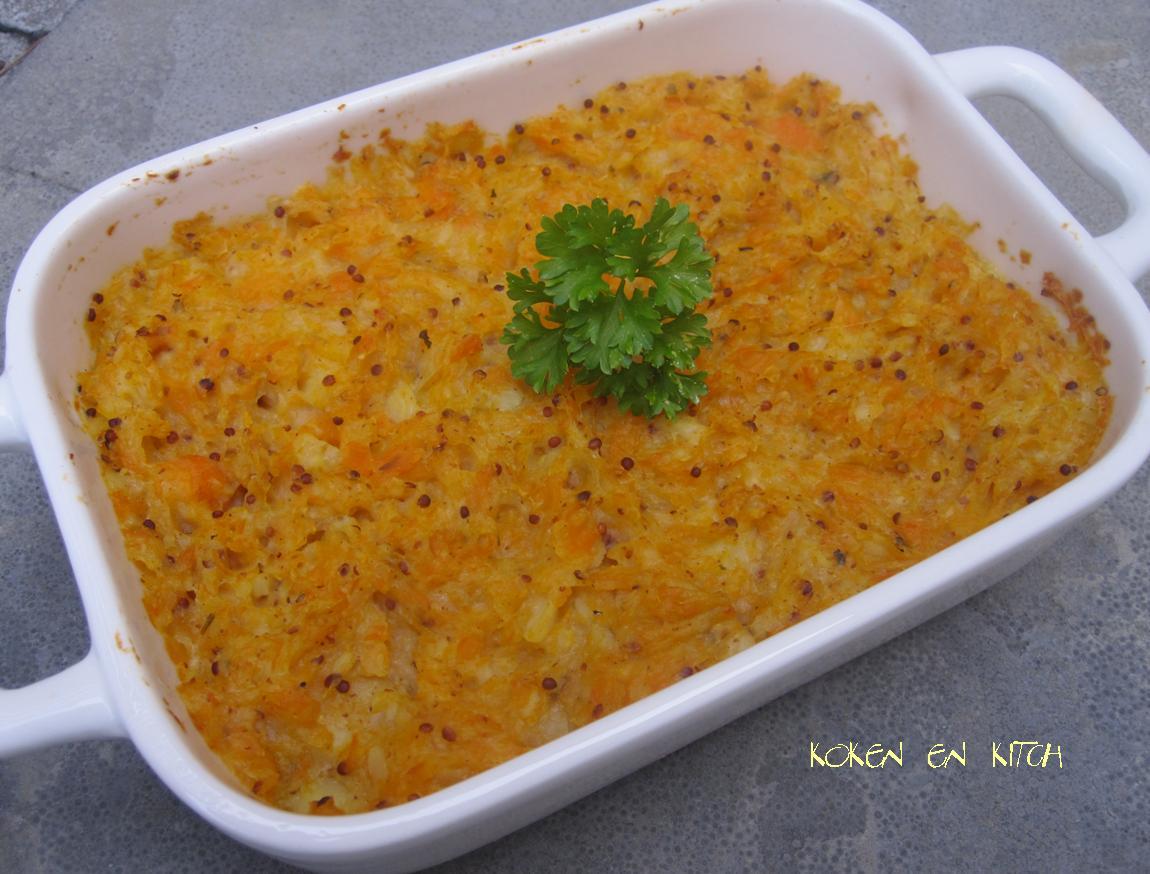 ovenschotel wortel aardappel gehakt