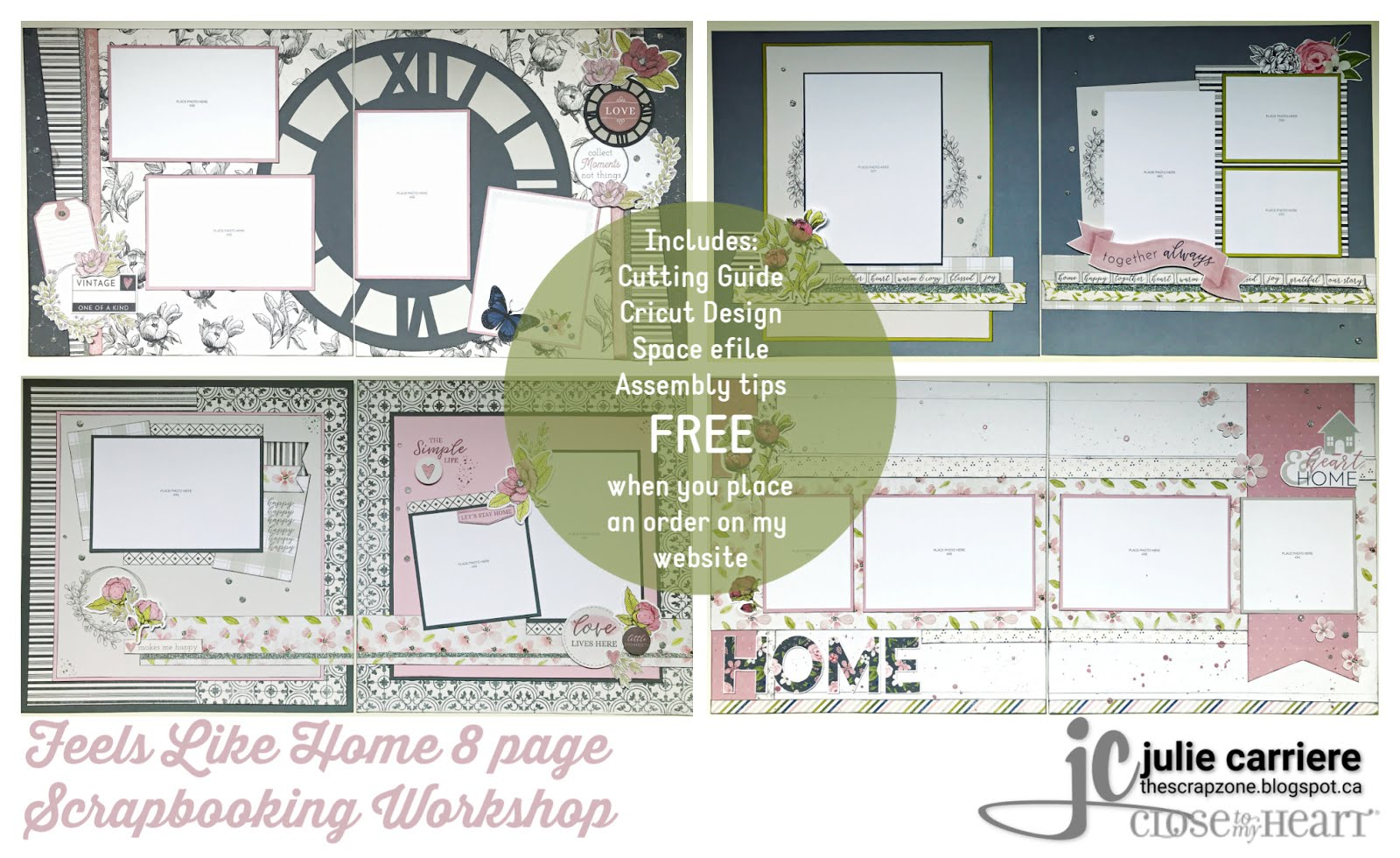 Feels Like Home scrapbooking assembly guide