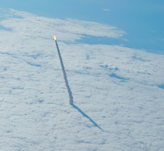 Space Shuttle Clouds HD Wallpaper
