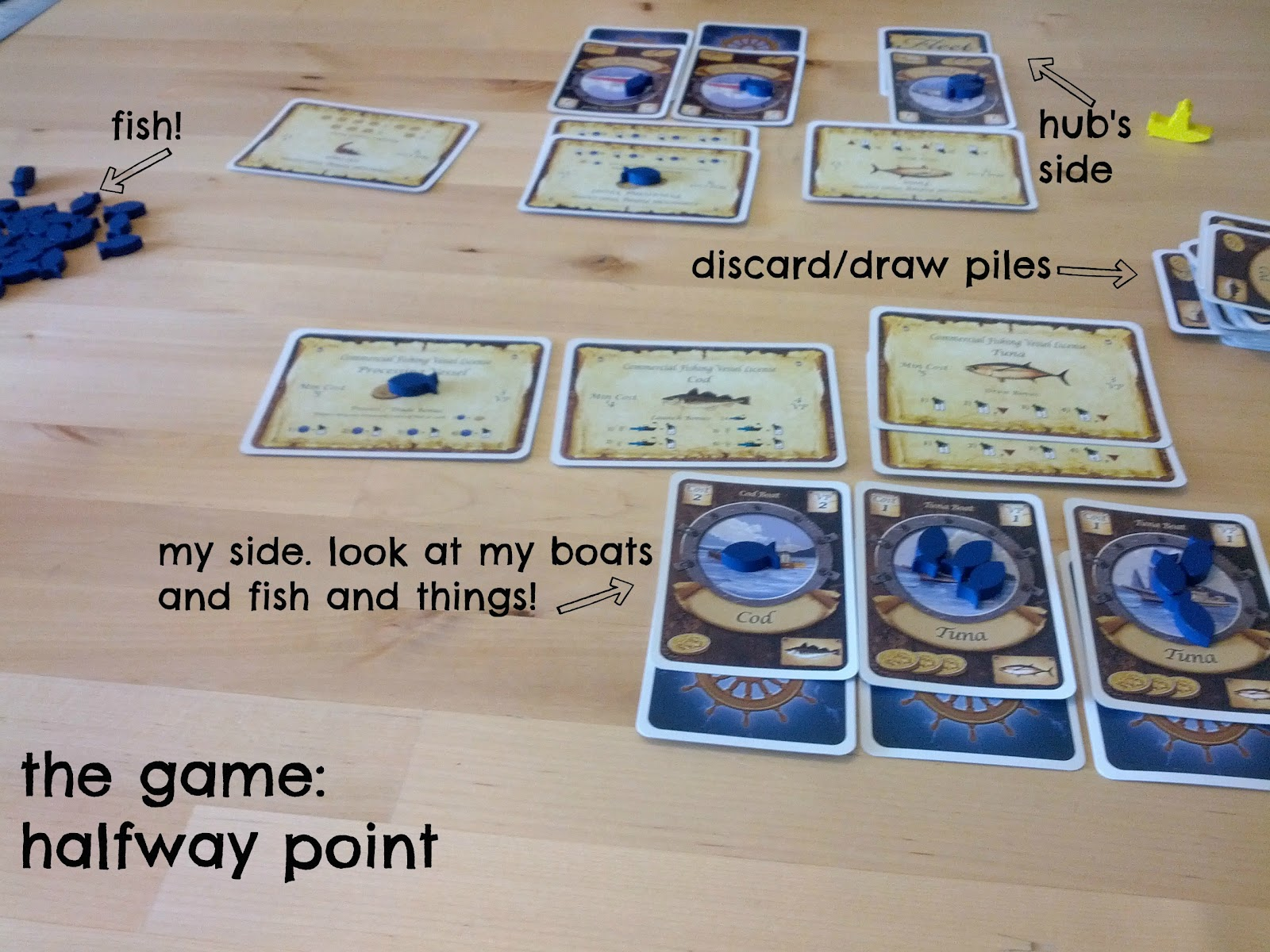 Lisa is busy nerding board game review fleet for Fish and game licence
