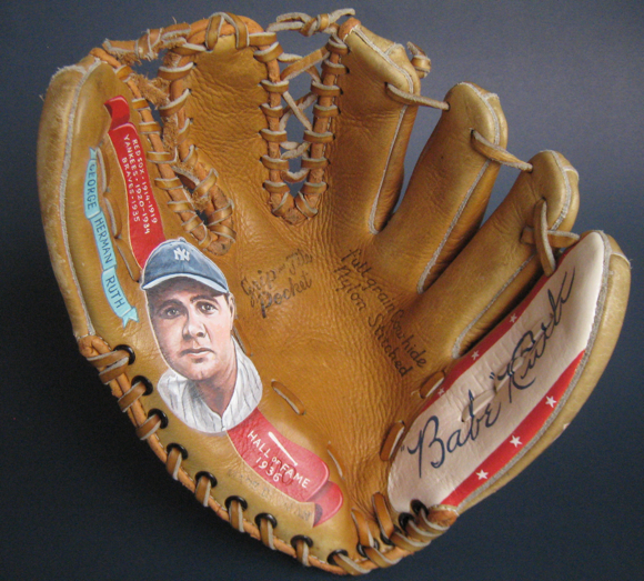 Babe Ruth Art glove by Sean Kane
