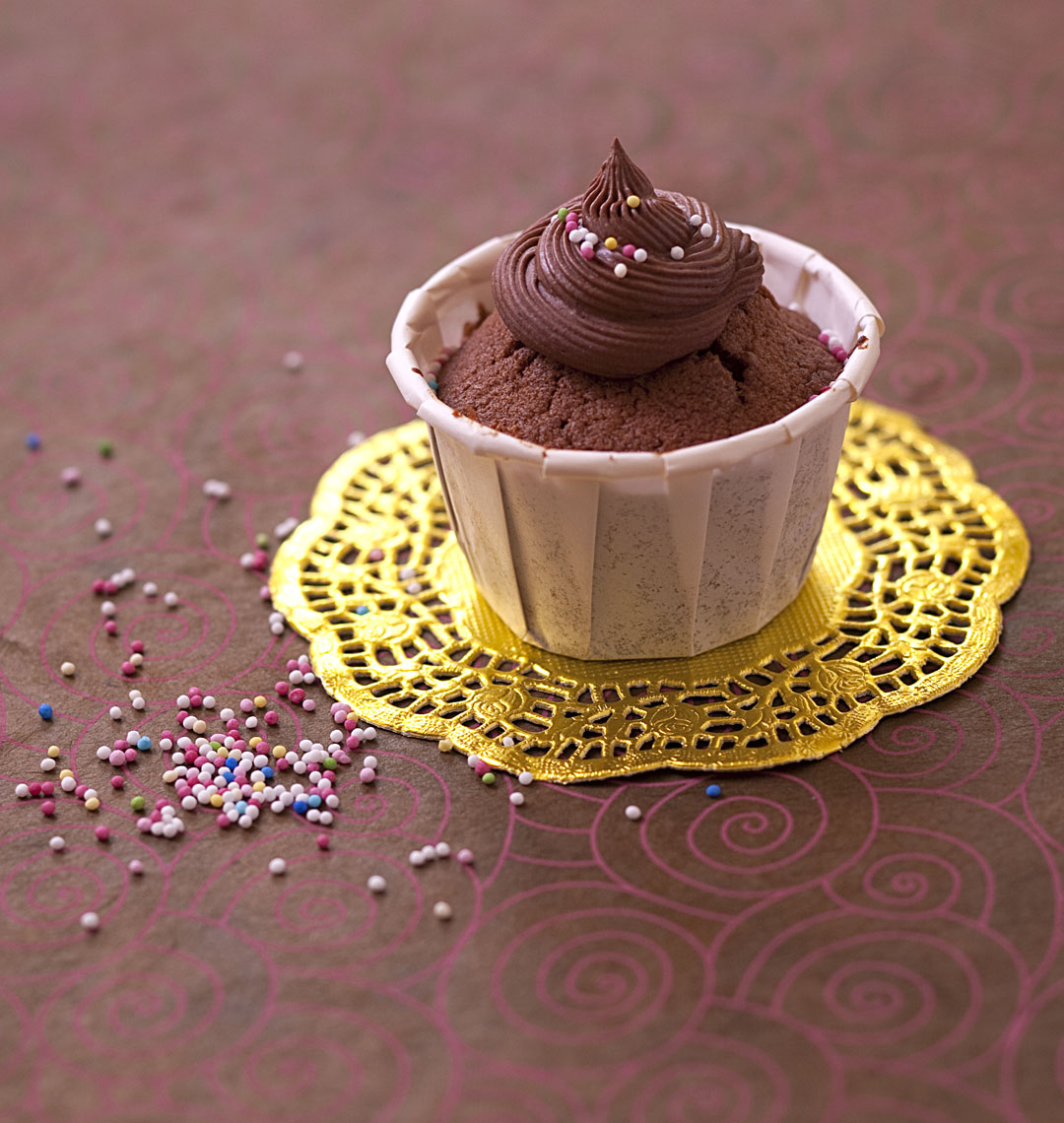 Шоколадный кекс с шоколадным кремом рецепт пошагово