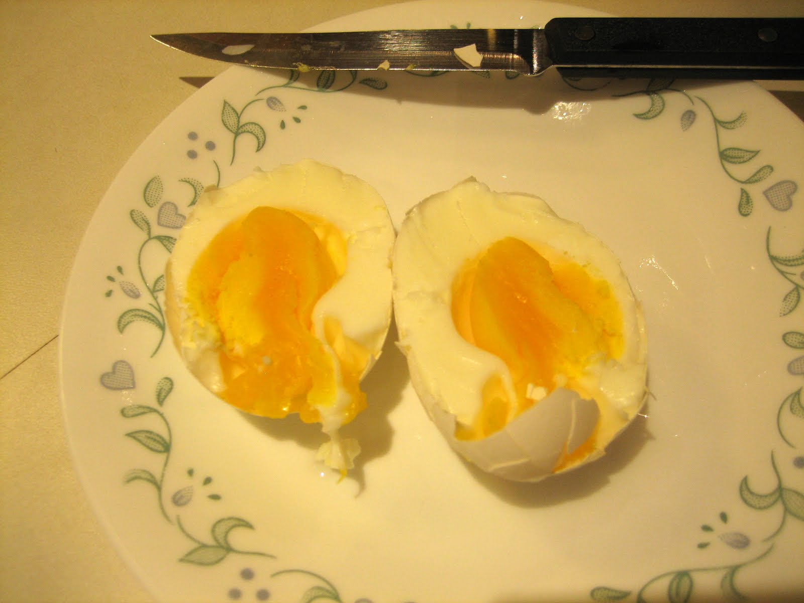 If You Fucks Want A Medium Boiled Egg (whites Done And Yellow Mostly Done),  Let The Egg Cook For 8 Minutes, And Then A 10 Minute Cold Water Cool Down