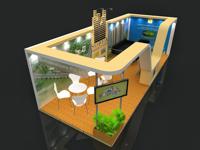 Exhibition Stall Fabricators In : Shoba stall design property expo bangalore amit chand