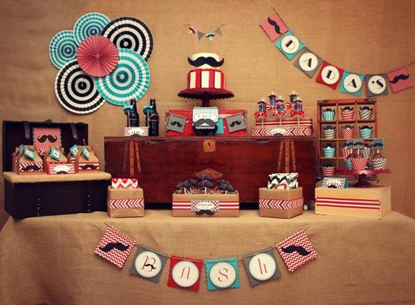 decoração de mesa do dia dos pais