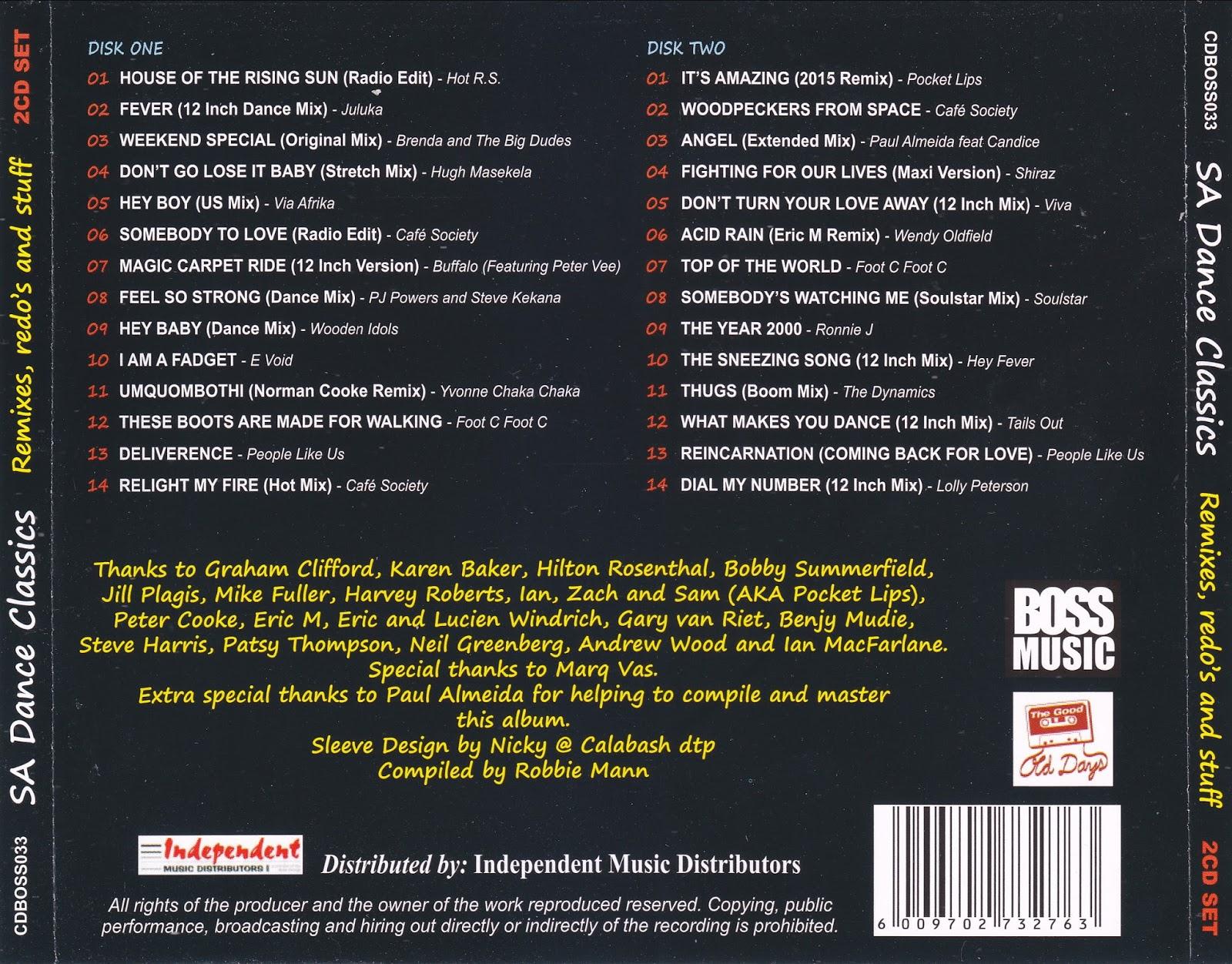Retro disco hi nrg south african dance classics various for Classic 90s house vol 2