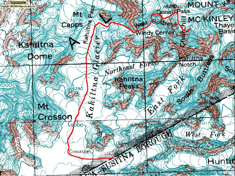 Denali National Park Topographic Map.2019 Mountaineering Season Denali S Routes