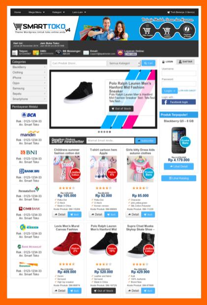 Template toko online wordpress indonesia
