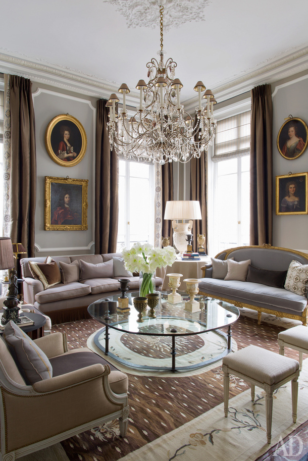 Decor inspiration apartment in the style of louis xvi at - French decorating ideas living room ...