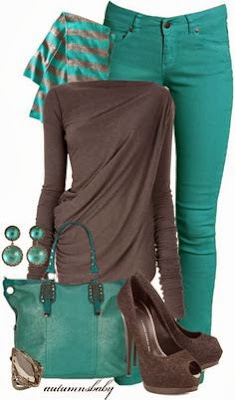 Stylish dark grey and green combo outfits fashion