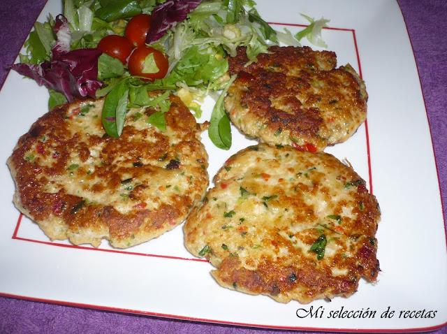 Mi selecci n de recetas hamburguesas de pollo y verduras - Hamburguesa de verduras ...