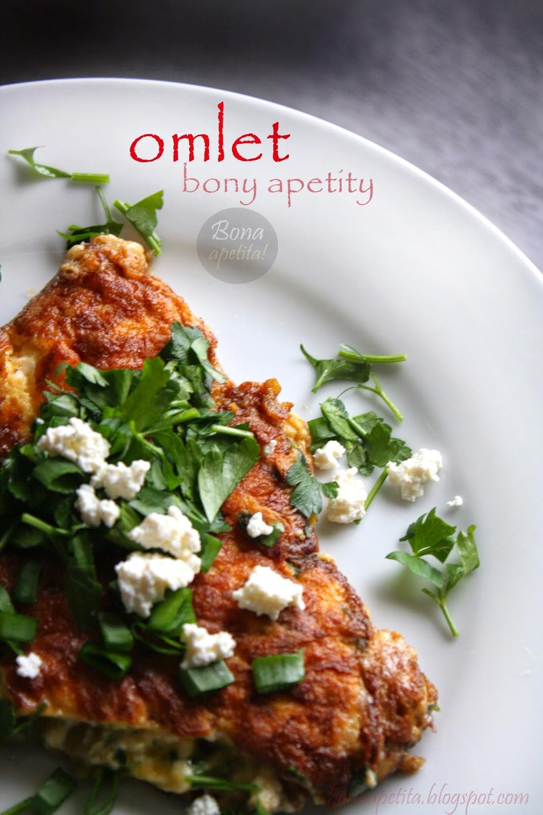 omlet z ziołami