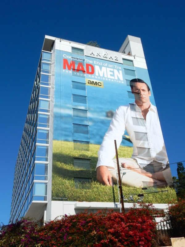 Giant Don Draper Mad Men 2015 Emmy billboard