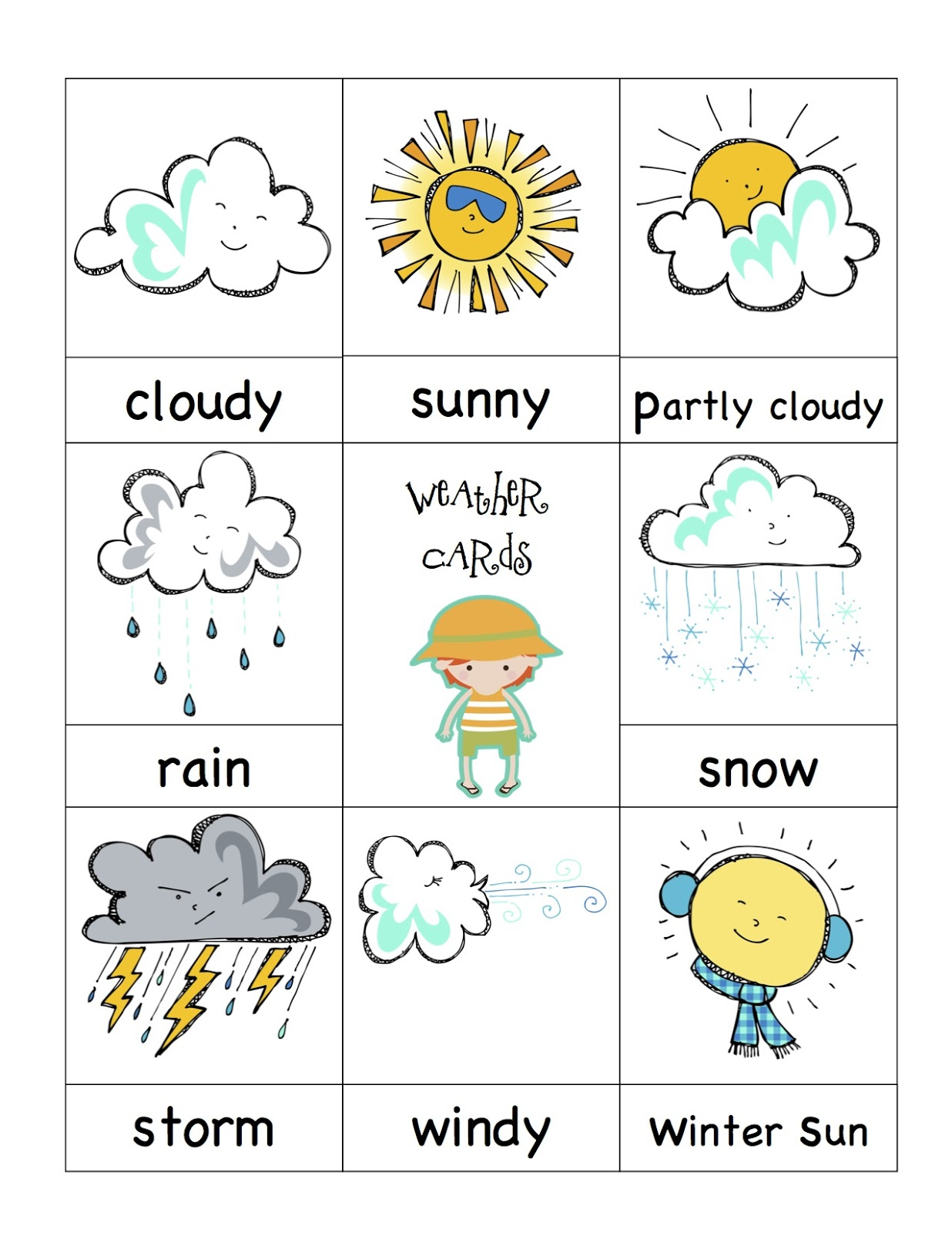 Ser maestr hoy en d a weather charts for preschoolers for Kids weather report template