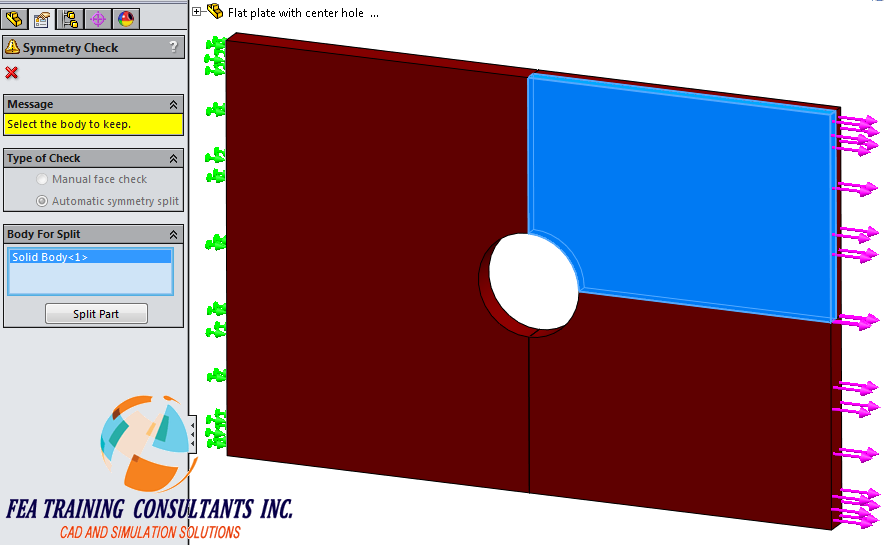 symmetry in solidworks simulation