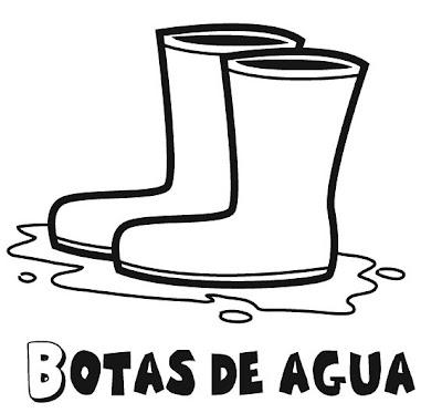 Dibujo de Botas de agua para colorear ~ 4 Dibujo