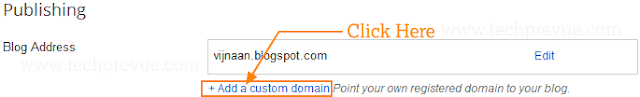 Click +Add a custom domain