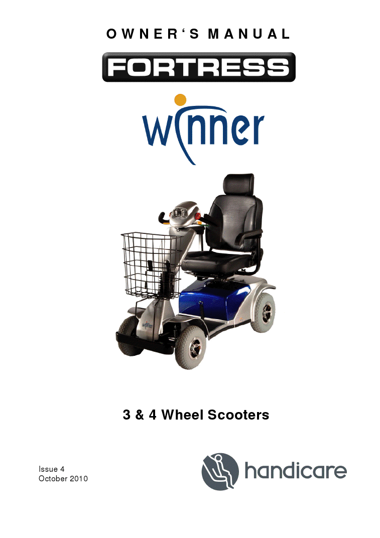 Fortress Winner Electric Scooter  Owner Manual