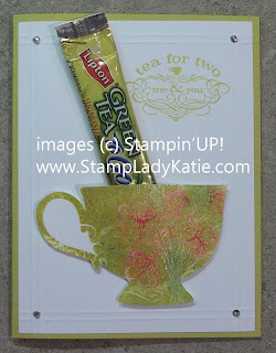Tea Cup card made with Stampin'UP!'s Tea Shoppe stamp set.