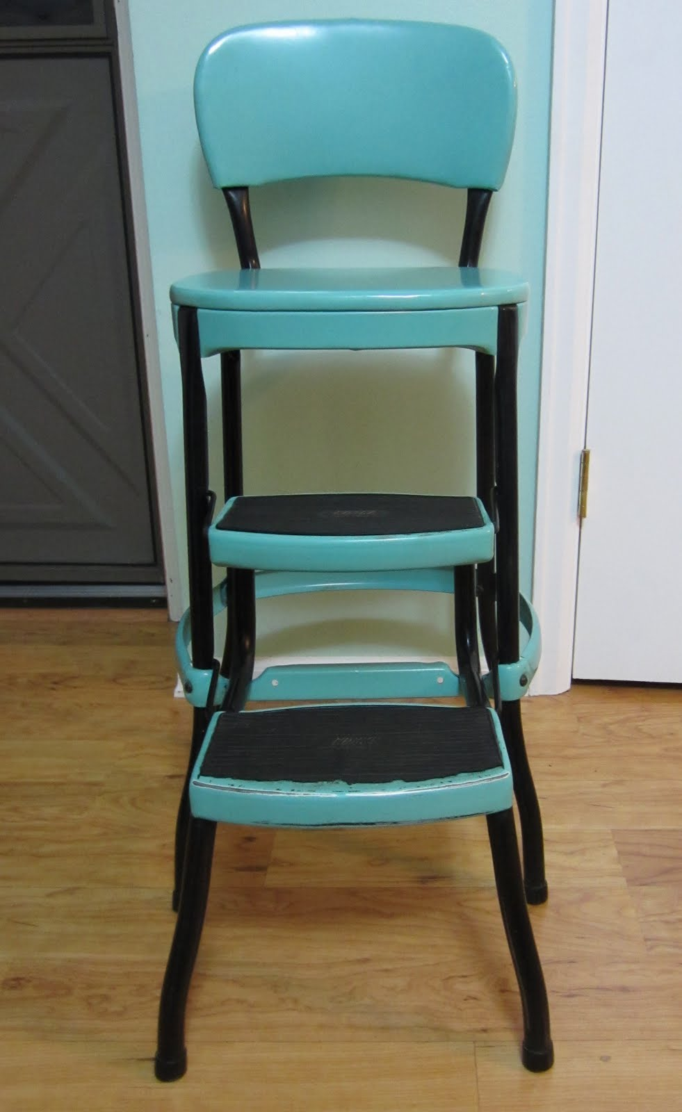 kitchen stool chair vintage cosco stool step stool. Black Bedroom Furniture Sets. Home Design Ideas