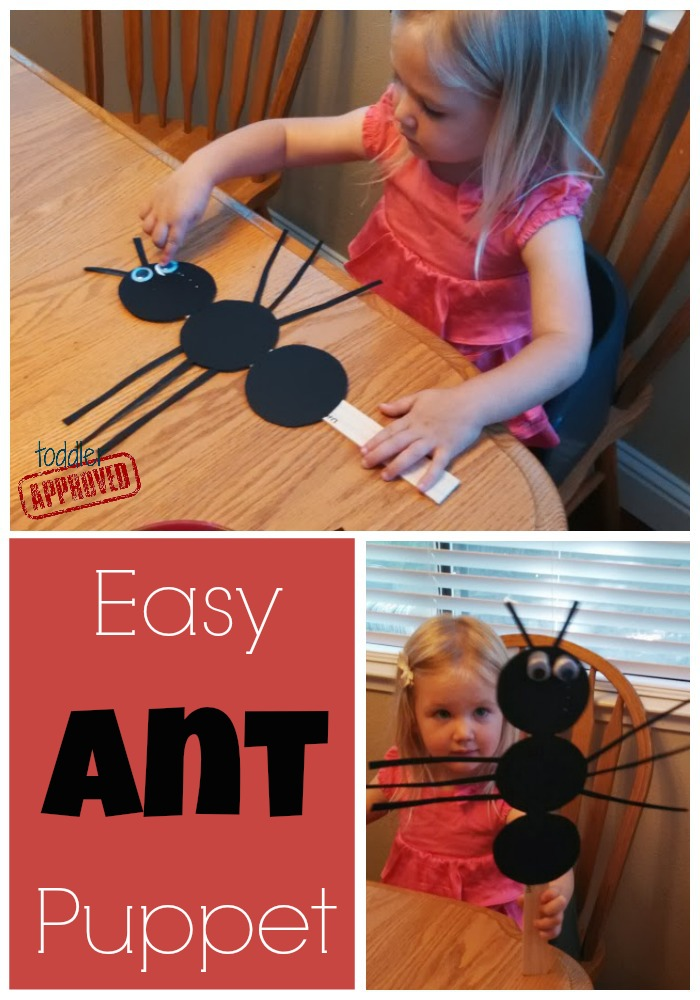 Toddler Approved Easy Ant Puppet Amp Snack Bug Week
