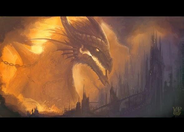 Natalia Ponce VampirePrincess007 deviantart ilustração fantasia dragões monstros gigantes