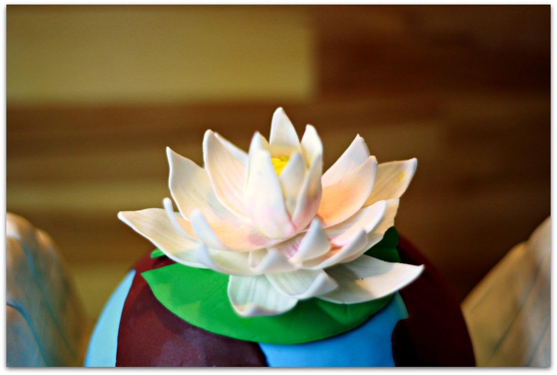 Flor de Loto de pasta de goma