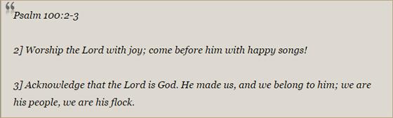Psalm 100:2-3