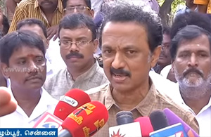 Stalin questions the whereabouts of Jayalalithaa while people suffers in floods