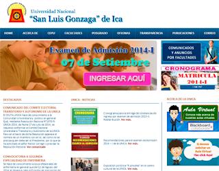 Resultados Ingresantes UNICA 2015, Examen Admisión Universidad Nacional San Luis Gonzaga de Ica 2015 I 9 de Agosto