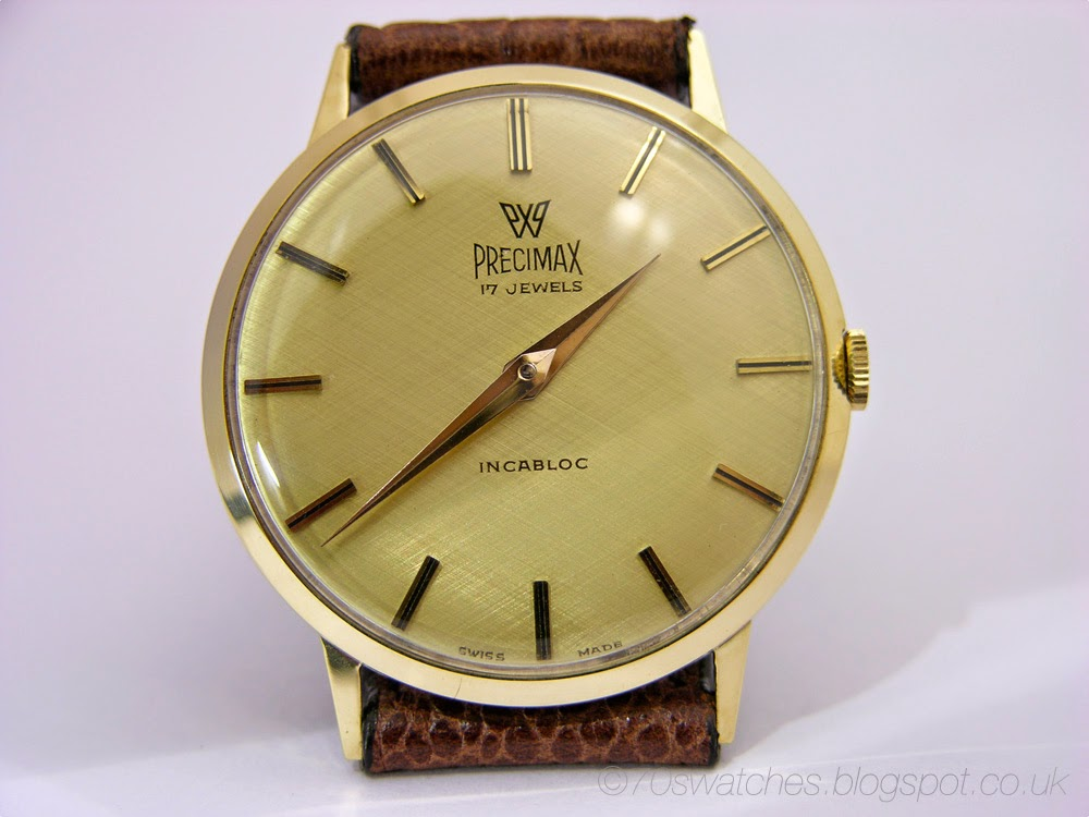 70s watches vintage 60s precimax solid 14k solid gold case maunual dress watch peseux 320 for Vintage gold watch