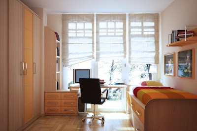 Cool Teen Orange Dorm Room Design & Decorating