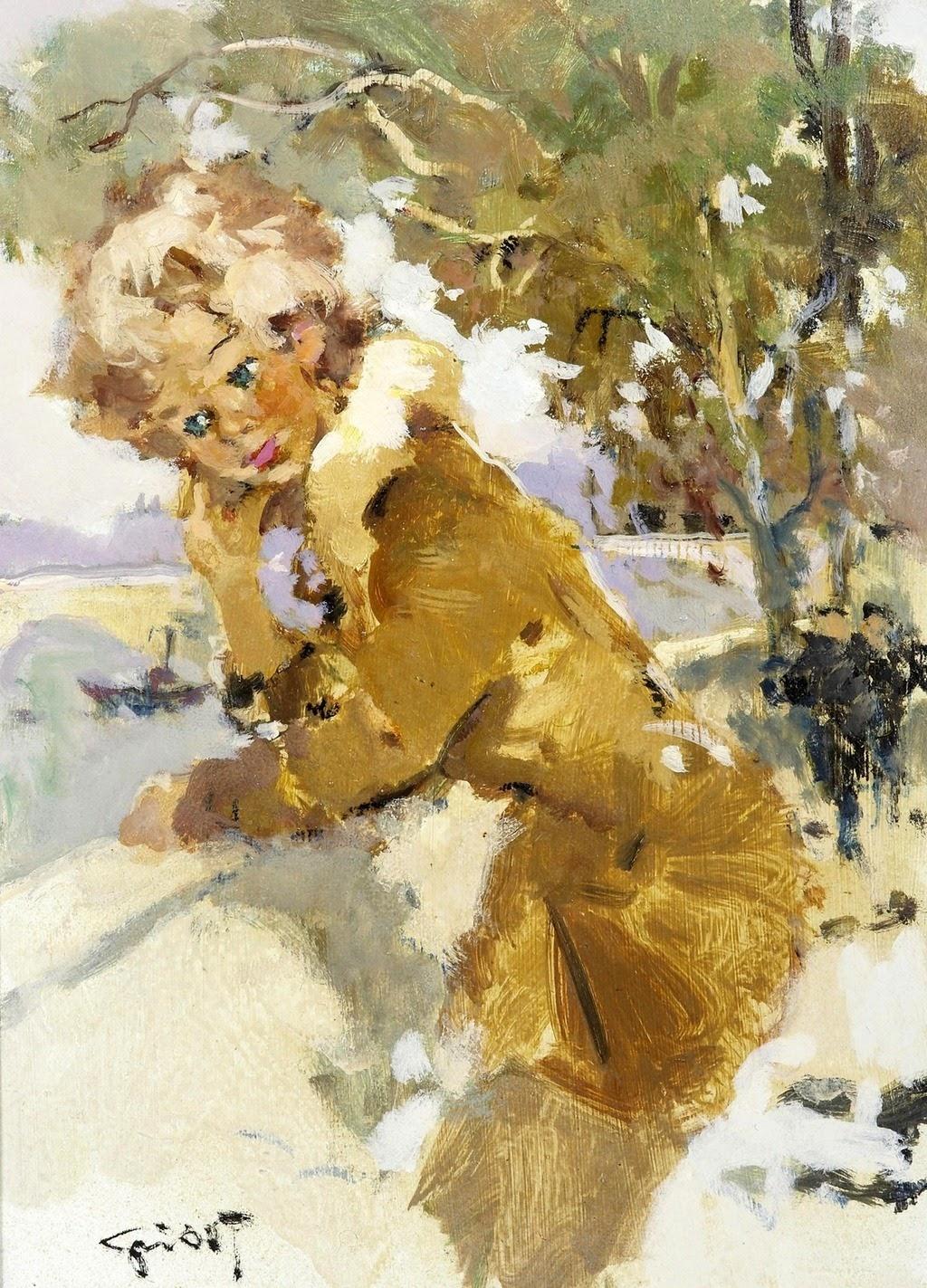 Pierre Grisot A Girl in a Fur Coat