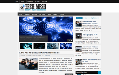 Tech Mesh Blogger Template