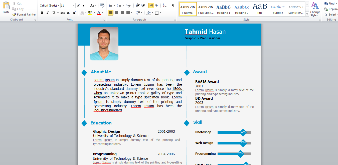 Download Curriculum Vitae-CV Resume Templates 2015 ~ StagePFE